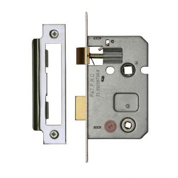 "Heritage Bathroom Lock YKBL2 Polished Nickel 2.5"""