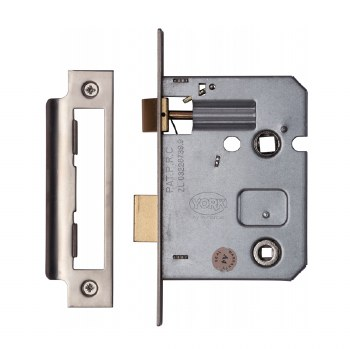 """Heritage Bathroom Lock YKBL3 Satin Chrome 3"""""""