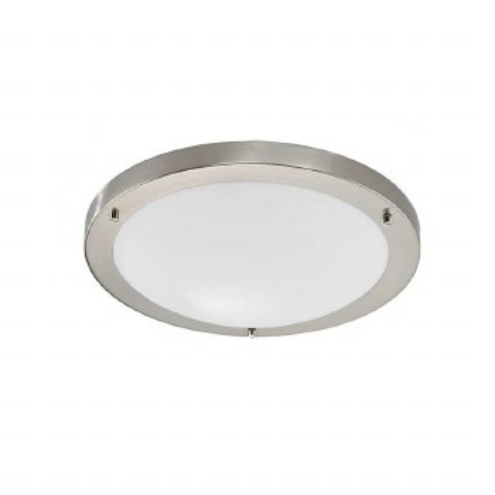 Bathroom Ceiling Light IP44 Satin Nickel Small