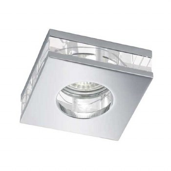 Bathroom Downlights Chrome and Glass Square