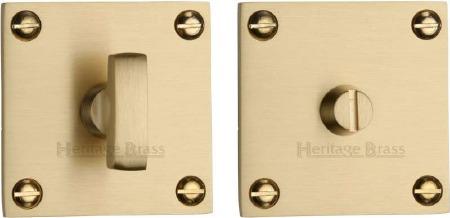 Heritage BAU1555 Bathroom Thumb Turn & Release Satin Brass Lacquered