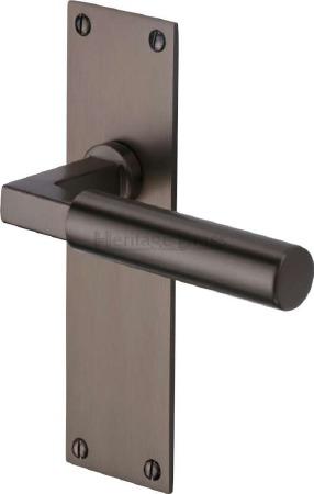 Heritage Bauhaus Latch Door Handles BAU7310 Matt Bronze