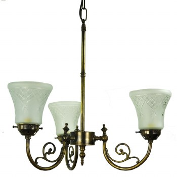 Bayswater 3 Arm Ceiling Pendant, Light Antique Brass
