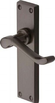 Heritage Bedford Latch Door Handles V803 Matt Bronze