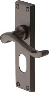 Heritage Bedford Oval Lock Door Handles V805 Matt Bronze