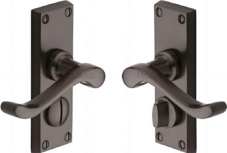 Heritage Bedford Privacy Door Handles V825 Matt Bronze