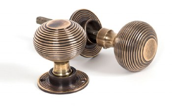 From The Anvil Beehive Mortice or Rim Door Knobs Aged Brass