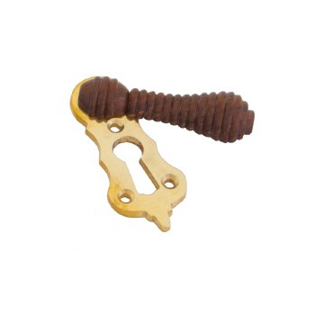 From The Anvil Beehive Covered Escutcheon Brass & Rosewood