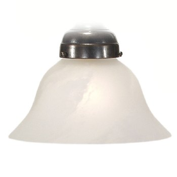 Bell Alabaster White Shade 18cm