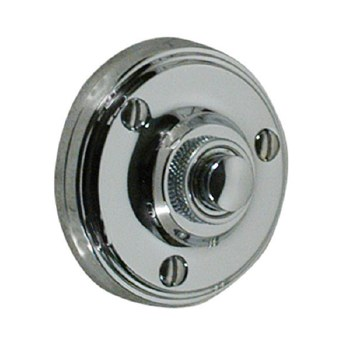 Victorian Constable 632 Door Bell Push Polished Chrome