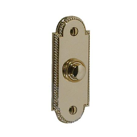 Regency Princess 905 Door Bell Push Polished Brass Unlacquered