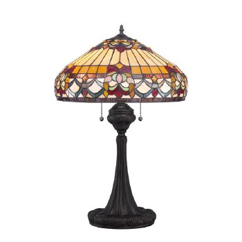 Quoizel Belle Fleur Tiffany Table Lamp Vintage Bronze