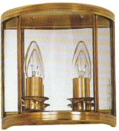 Biarritz Twin Wall Light Antique Brass