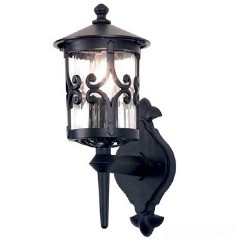 Elstead Hereford Outdoor Wall Light Lantern Black