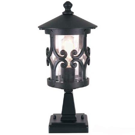 Elstead Hereford Pedestal Lantern Light Black