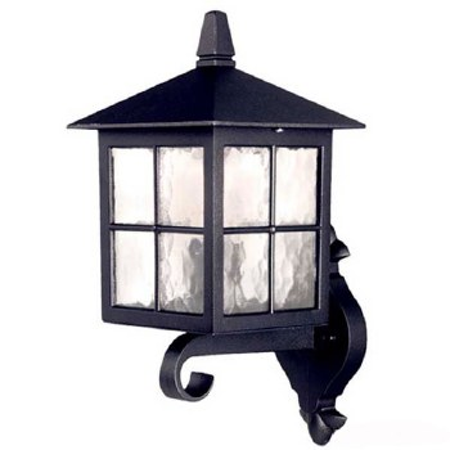 Elstead Winchester Up Outdoor Wall Light Lantern Black