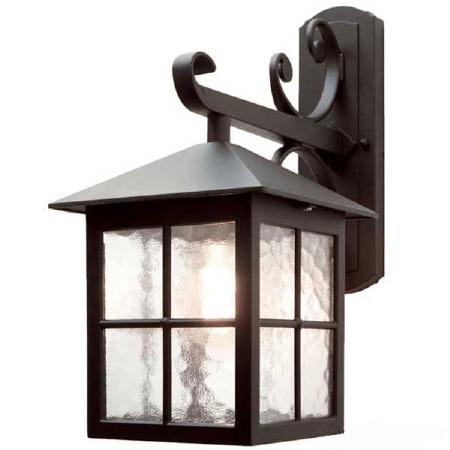 Elstead Winchester Outdoor Wall Light Lantern Fancy Bracket Black