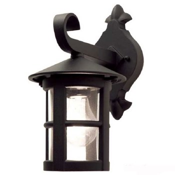 Elstead Hereford Outdoor Hanging Wall Light Lantern Black