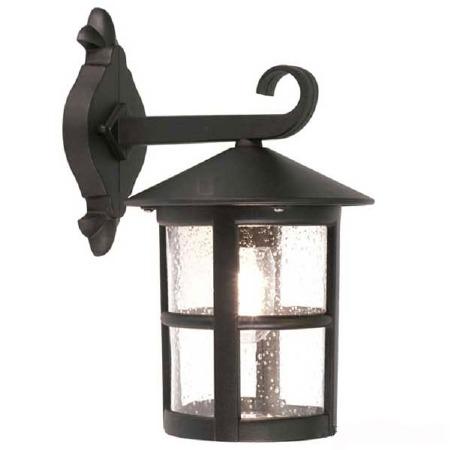 Elstead Hereford Outdoor Wall Light Lantern Black