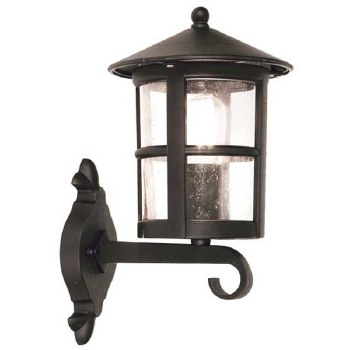 Elstead Hereford Outdoor Wall Up Light Lantern Black
