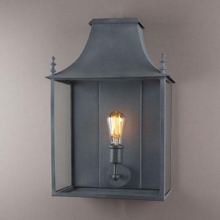 Blenheim Wall Lamp Wide Zinc