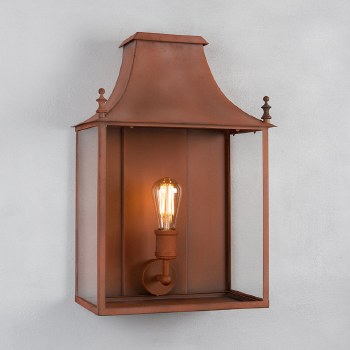 Blenheim Coach Lamp Large Corten Steel