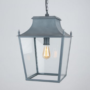 Blenheim Lantern Large Zinc