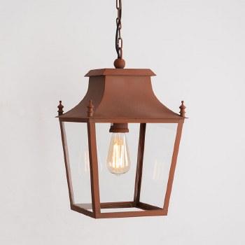 Blenheim Lantern Small Corten Steel