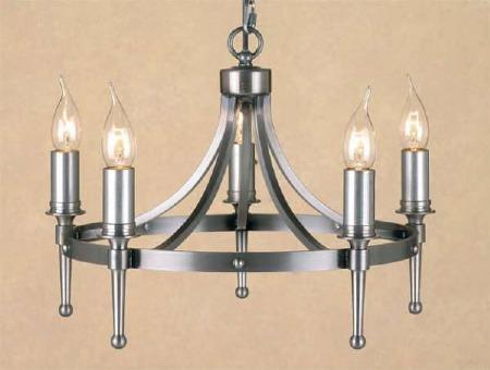 Blenheim 5 Light Chandelier Sterling