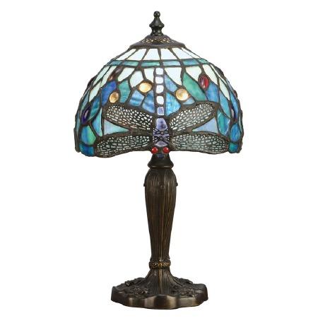 Interiors 1900 Blue Dragonfly Intermediate Tiffany Table Lamp