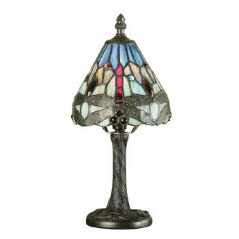 Interiors 1900 Blue Dragonfly Mini Tiffany Table Lamp