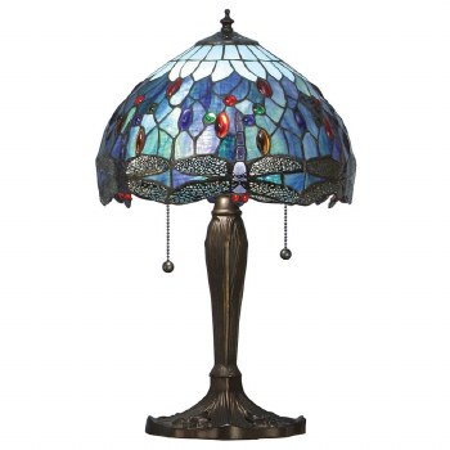 Interiors 1900 Blue Dragonfly Small Tiffany Table Lamp