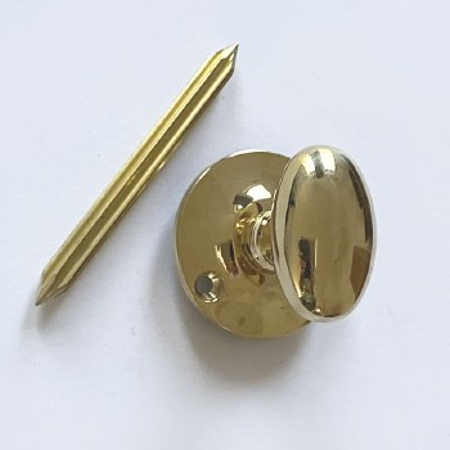 Aston Bolt Thumb Turn (Chubb) Polished Brass Unlacquered