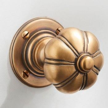 Bradgate Door Knobs Antique Satin Brass