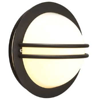 Elstead Bremen Flush Outdoor Wall Light Black