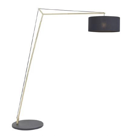 Broadmayne Floor Lamp Matt Brass & Black