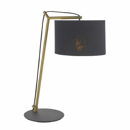 Broadmayne Table Lamp Matt Brass & Black