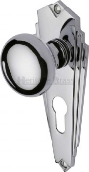 Heritage Broadway BR1848 Knobs Euro Profile Polished Chrome