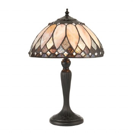 Interiors 1900 Brooklyn Tiffany Table Lamp Resin Base