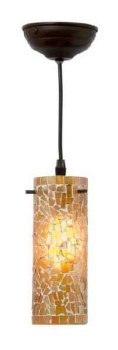 Brunswick Small Orange Cylinder Ceiling Pendant Light