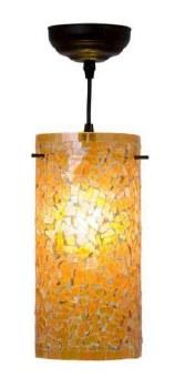 Brunswick Orange Cylinder Ceiling Pendant Light
