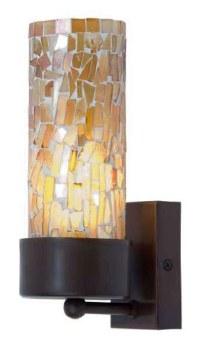 Brunswick Orange Cup Wall Light