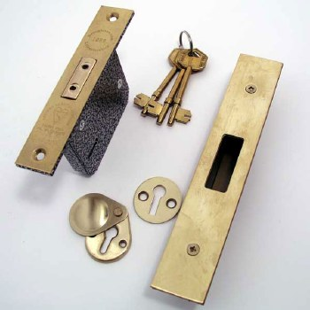 Broughtons 5 Lever BS Mortice Deadlock 63mm Polished Brass