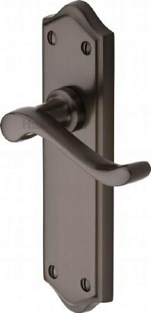 Heritage Buckingham Latch Door Handles W4210 Matt Bronze