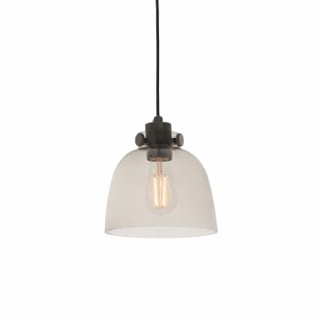 Buckland Pendant with Smoked Grey Glass