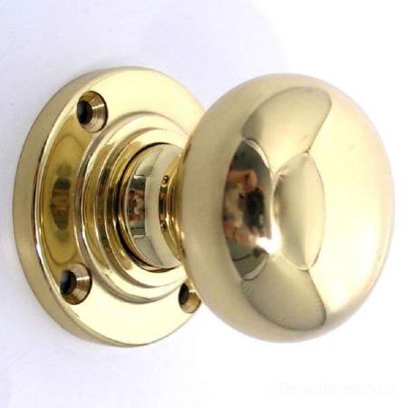 Aston Bun Door Knobs Polished Brass Unlacquered 51mm