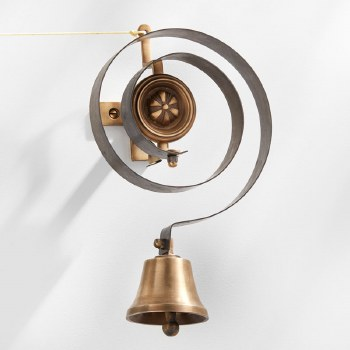 Butler or Housekeepers Bell Antique Satin Brass