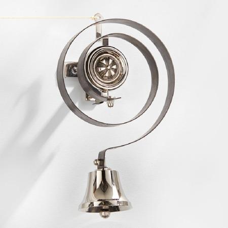 Butler or Housekeeper Bell Polished Nickel