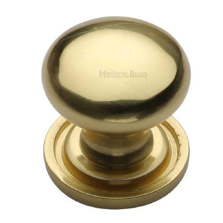 Heritage Round Cabinet Knob C2240 25 Polished Brass