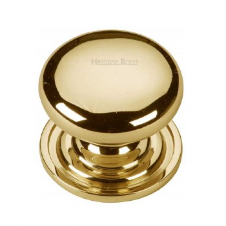 Heritage Round Cabinet Knob C2240 32 Polished Brass